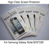 40 PCS/LOT High Clear Screen Protector For Samsung Galaxy Note 2 II, Screen Film In Retail Packing ,Factory Price,Free Shipping