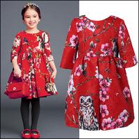 2014 hot sale children dress fashion girls dress Autumn spring girl dresses BABI kids brand clothes