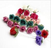 24PX handmade Small Foam Rose Flower Hair Pins Wedding Bridal Flowers Bridesmaids