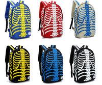 Free Shipping Unisex Canvas New Men Women Skull Print Student's Schoolbag Bookbag Rucksack Backpack
