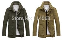 Free shipping Men's long jacket