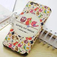 Girl Lovely Case For iPhone 6 Plus 5.5 inch Book Style PU Leather Case For iPhone 6 Plus ,Printing Image on wallet leather case