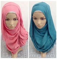 Comfortable Cotton Solid Color Scarf  Muslim long hijab Islamic scarf  Women Muslim Scarves 2014 New fashion  Islamic hijab