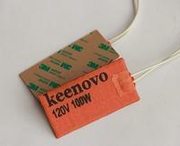 "2"" X 4"", 100W 120V, Keenovo Universal Powerful Flexible Silicone Heater Mat/Pad/Element, Free Shipping"