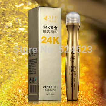 Hot Sale 24K Gold Eye Essence Cream Anti Puffiness Dark Circle Anti Aging Wrinkles Moisturizing Whitening Eye Skin Firming Care(China (Mainland))