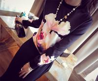 Drop Ship New Fashion Sports Year Hiphop sudaderashirt Pullovers sudadera Floral Print Women Track Suit Long Sleeve Hoodies
