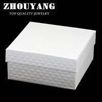 ZY-JPS001 Top Quality Royal Style Diamond Cut Lines PU Embossing Princess White Color  PACKAGING Jewelry BOX For Sets and Bangle