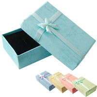 Paper Gift Box And Packaging For Earrings Necklaces Jewelry Display Christmas Jewellery Usb Flash Drive Boxes Storage Bowknot
