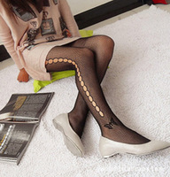 Girls Ladies  Black Sexy Butterfly Pattern Fishnet Pantyhose Tights Stockings Goth Punk Comfortable Hot sale FSw623