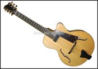 yunzhi natural colour fully handmade 7 strings jazz guitar