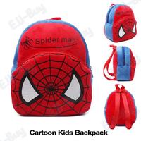2014 Cute Toy Baby Bags Spiderman Shape Cartoon Toddler Bags Boy's Backpack Children Satchel Kindergarten Kid's Book Bag