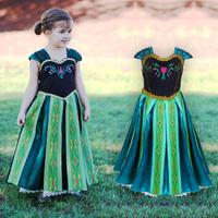 wholesale New Princess Dresses Brand frozen Dress ANNA printed Summer summer A-line cute one-piece elsa Dress For Girls Children