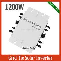 1200W Grid Tie Inverter 1200W On Grid Inverter,Input DC22-50V Output AC120V or 230V  with Power line communication