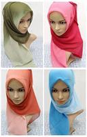 Islamic hijab scarf 2014 New arrival Women Muslim Scarves Islamic hijab Women Muslim Scarves Muslim chiffon hoody 11 Colors