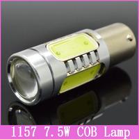 2x HOT 1157 Auto Car LED Lamp BAY15D 7.5W COB Tail Brake Headlight Fog Turn Signal Reverse Bulb Wedge light Replace HID Xenon
