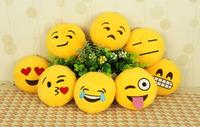 10cm*10cm Soft Emoji Smiley Emoticon Yellow Round Cushion Pillow Stuffed Plush Cushion 10cm*10cm/32cm*32cm