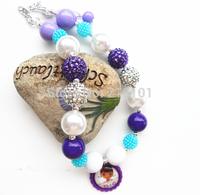 2pcs/lot lovely Doc Mcstuffins charm pendant party favors kid/child bubblegum chunky bead necklace wholesale!!