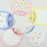 Free shipping Three cotton cotton baby bibs baby bib cartoon bibs / bibs Wholesale 16.5 * 13