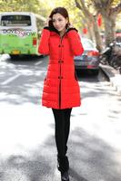 Korean 90% duck down Slim Hooded down Coat new 2014 outerwear women down coat Women Winter Coat Long Jacket casacos femininos
