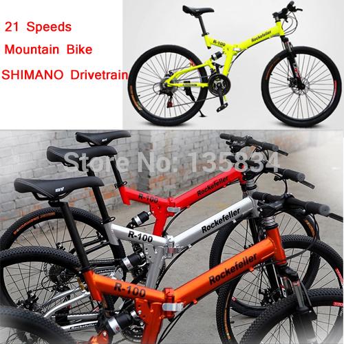 "21 Speed Mountain Bike Folding Bicycle 26""x17"" 60 Spokes Bicicletas Mens Mountain Biking Bycycle Bicicleta All Vibration Systen(China (Mainland))"