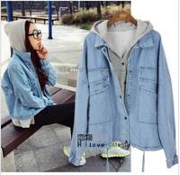 New 2014 Fashion Women Coat Jeans Jacket Ladies Denim Coat value 2 piece jaqueta jeans feminina Overcoat