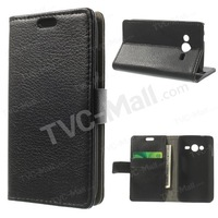 Luxury Wallet Stand Leather Flip Cover Case For Samsung Galaxy Ace 4 NXT G313H With Credit Card Holder Phone Cases Free Shipping