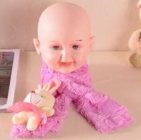 Super popular cartoon baby body baby birthday gifts for men and women scarf cartoon animal shapes bib  2014