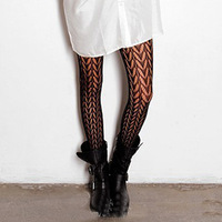Girls Ladies  Black Sexy Butterfly Pattern Fishnet Pantyhose Tights Stockings Goth Punk Comfortable Hot sale FS106