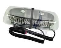 2014 Hot Sales 240 Magnetic Roof Top Car Truck LED Flashing Strobe Light Bar Block Lamp White/ Amber 4879