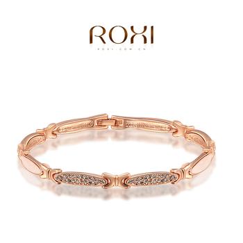 Roxi великолепная мода женские украшения высокое качество розового золота круглый павэ австрийские кристаллы королевский браслет
