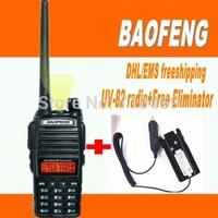 DHL Freeship+Baofeng UV 82 Walkie-Talkie Pofung UV-82L uv82 5W Radio amateur 128CH VHF+UHF VOX Dual Band 2 Way Radio+Eliminator