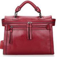 2015 New women handbag genuine leather lady messenger bag cowhide tote shoulder bag vintage motorcycle Bag free shipping 86005