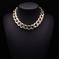 2014 New Women Arrival PUNK Clain Mental Jewelry ZA Brand Fashion Statement gold color vintage Statement Jewelry 8664