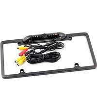1/4 CMOS USA Metal License Plate Frame Car Rear View Camera Waterproof Anti-Shock