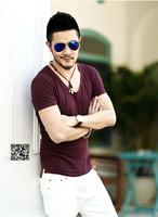XNAN 2014 new Men's cotton round neck short sleeve thin tide T2009 short-sleeve T shirt Comfort T-shirt For Metrosexual men