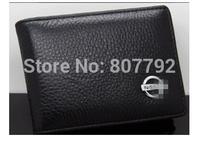Leather License Bag With Emblem Car Logo For Pathfinder TIIDA X-Trail Teana Livina Qashqai Small Wallet Purse Notecase
