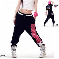DJ-17 Fashion Autumn winter Hip hop pants Loose Sports Women joggers Hip hop harem pants women Baggy Street dance pants Black