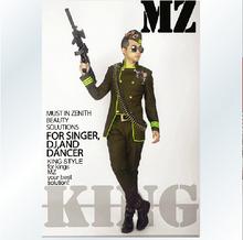 Male singer DJ DS right Zhi Long GD TOP Cui Shengxian same paragraph dark green military