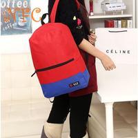 The new Korean version of the hit color shoulder bag, students backpack schoolbag, college wind travel bags