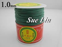1mm Teal Chinese Knot Beading 100% Nylon Shamballa Cord (300M/328yds Spool) NCNB