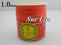 1mm Dk Coral Pink Chinese Knot Beading 100% Nylon Shamballa Cord (300M/328yds Spool) NCNB