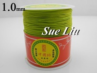 1mm Apple Green Chinese Knot Beading 100% Nylon Shamballa Cord (300M/328yds Spool) NCNB