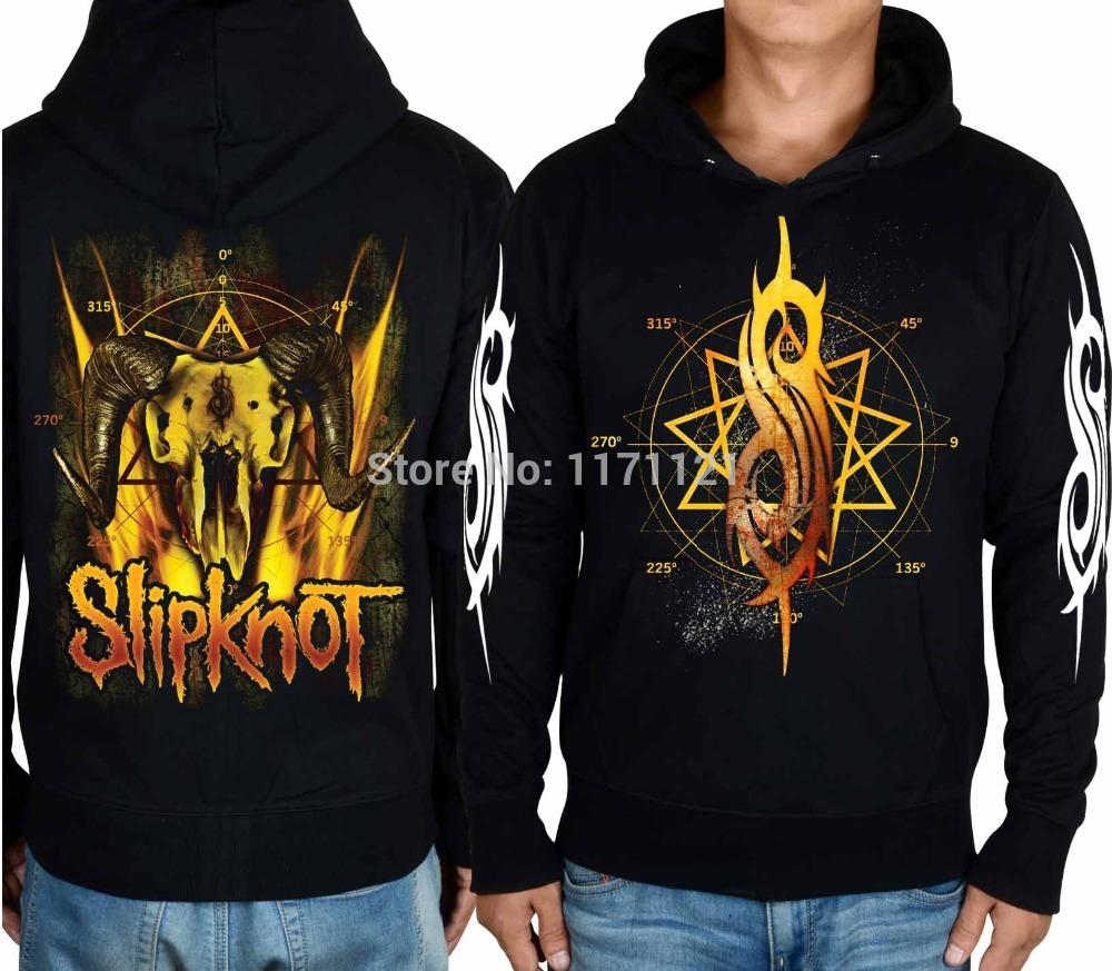 Slipknot Death Metal banda de música Screamo nova onda de Heavy Metal americano grátis frete 100% algodão com capuz(China (Mainland))