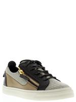 Men women lovers flats giuseppe zanotty sneaker gz designer low-cut casual shoes Fish scale pattern genuine leather begin 36-46