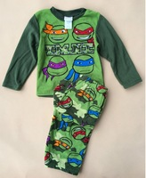 2014 new 4-10Y baby boys girls Winter Warm Teenage Mutant Ninja Turtles TMNT Pajamas sleepwear cartoon costumes children kids