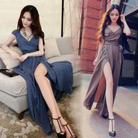 new 2014 Brand sexy style women long Dresses 2014 summer fashion maxi dress women sexy backless dress