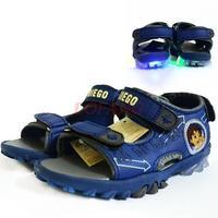 2014 New Brand Design Children's Sandals For Kids Boy Diego Flashing Light Children Kid Boys' Beach Shoe Boys Shoes Summer