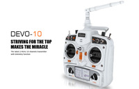 Walkera white DEVO 10 2.4G transmitter 10 channel with telemetry function FPV version RX1002 receiver