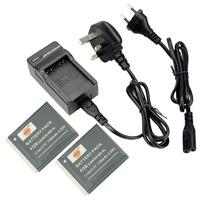 DSTE 3PCS NB-6L Li-ion Battery Pack and UK & EU Plug Charger for Canon PowerShot SX170 IS, SX240 HS, SX260 HS, SX270 HS