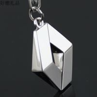 3d cutout renault emblem keychain key ring key chain Reynolds 4s women's for male